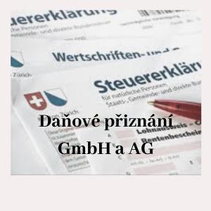 daňové přiznání GmbH a AG Švýcarsko