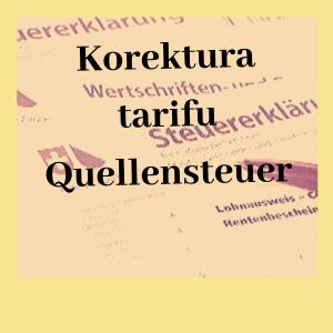 korektura tarifu Quellensteuer